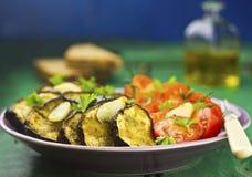 Salada do tomate da beringela foto de stock royalty free