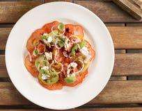 Salada do tomate da herança Imagens de Stock Royalty Free