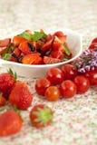 Salada do tomate de morango Imagem de Stock