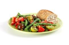 Salada do tomate e do feijão verde Foto de Stock Royalty Free