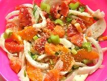 Salada do Vegan com erva-doce, laranja e hortelã Imagens de Stock
