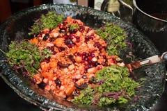 Salada do vegetal e de fruto Fotos de Stock Royalty Free