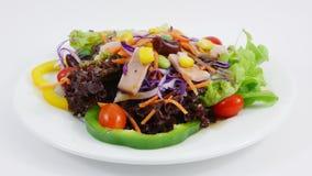 A salada do vegetal e do presunto Imagens de Stock