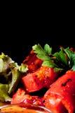 Salada do verão com tomates, folhas verdes, salsa fresca Fotos de Stock Royalty Free