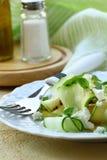 Salada do zucchini, do pepino e do queijo Imagem de Stock
