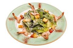 Salada dos camarões com vegetais Imagens de Stock Royalty Free