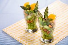 Salada dos espargos fotografia de stock royalty free