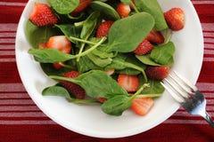 Salada dos espinafres Foto de Stock Royalty Free
