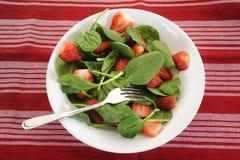 Salada dos espinafres Fotografia de Stock Royalty Free