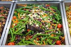 Salada dos feijões verdes Imagem de Stock Royalty Free