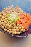 Salada dos grãos-de-bico Fotos de Stock Royalty Free