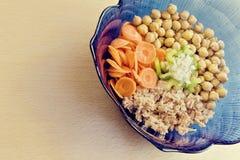 Salada dos grãos-de-bico Fotografia de Stock