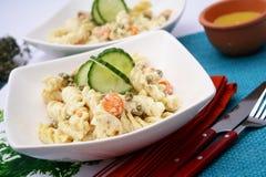 Salada dos macarronetes Fotos de Stock Royalty Free