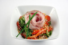 Salada dos mariscos Fotos de Stock Royalty Free
