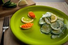 Salada dos pepinos Fotografia de Stock Royalty Free