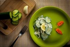 Salada dos pepinos Imagens de Stock Royalty Free