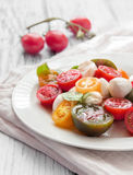 Salada dos tomates foto de stock royalty free