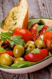 Salada dos tomates Fotografia de Stock