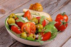 Salada dos tomates Fotos de Stock Royalty Free