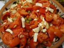 Salada dos tomates Imagens de Stock Royalty Free