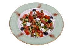 Salada dos tomates das azeitonas e do queijo Fotos de Stock Royalty Free