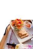 Salada e bolinhos Foto de Stock Royalty Free