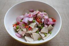 Salada e carne de porco tailandesas Imagens de Stock Royalty Free