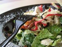 Salada e forquilha Foto de Stock Royalty Free