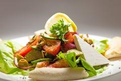 Salada e queijo Imagens de Stock Royalty Free