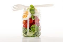 Salada em um frasco imagens de stock