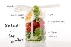 Salada em um frasco foto de stock