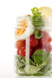 Salada em um frasco imagem de stock