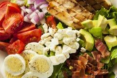 Salada entusiasta saudável de Cobb fotografia de stock royalty free