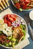 Salada entusiasta saudável de Cobb foto de stock
