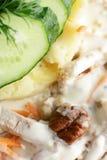 Salada europeia fria e saboroso Imagens de Stock Royalty Free