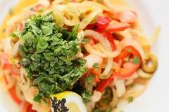 Salada europeia fria e saboroso Fotografia de Stock Royalty Free
