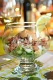 Salada festiva do camarão Fotografia de Stock Royalty Free