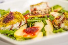 Salada fresca com queijo Foto de Stock Royalty Free