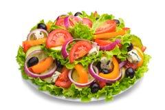 Salada fresca com tomates e queijo Fotos de Stock