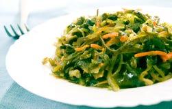 Salada fresca da alga Imagens de Stock Royalty Free