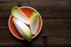 Salada fresca da chicória Alimento saudável orgânico da endívia crua fotografia de stock royalty free