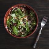 Salada fresca da mola com alface, cenoura, beterraba e couve Foto de Stock