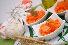 Salada fresca das cenouras Fotografia de Stock Royalty Free