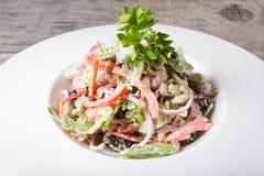 Salada fresca do aipo com porcas Imagens de Stock Royalty Free