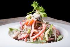 Salada fresca do aipo com porcas Imagens de Stock