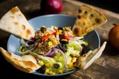 Salada fresca do atum Imagem de Stock Royalty Free