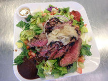 Salada fresca do bife Imagens de Stock