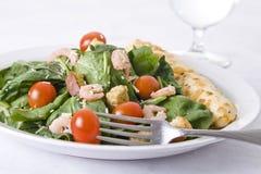 Salada fresca do espinafre Fotografia de Stock