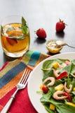 Salada fresca do espinafre Imagem de Stock Royalty Free