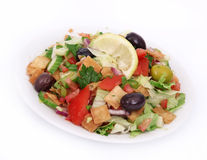 Salada fresca do fatoush fotografia de stock royalty free